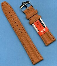 20mm GENUINE CAVADINI TAN CALF LEATHER STRAP BAND TANG & OMEGA STEEL BUCKLE