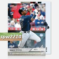2018 Topps Now Ronald Acuna Moment of the Week #MOW-4