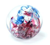 Vintage Unsigned PAPERWEIGHT Art Glass Studio Hand Crafted ROUND