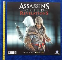 Store Display Sign ASSASSIN'S CREED REVELATIONS 2011 Ubisoft Video Game Promo