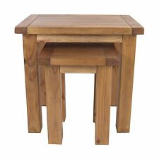 Pine Nesting Table Lacquered Finish