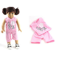 Sale price   Pink Sport clothes set for 18inch American girl doll party N14