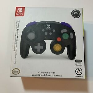 Wireless Nintendo Switch Game Cube Style Controller *Black*-Factory Sealed