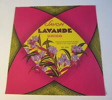 Old Vintage 1930's - French Soap Label - Savon Lavande Unico - Large Size