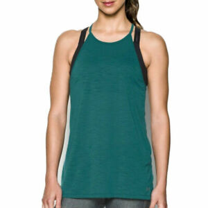 Under Armour UA Threadborne Ladies Fashion Top Tourmaline Sports Running Vest