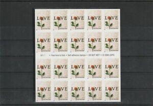 UNITED STATES  2000 LOVE-ROSE FLOWERS FOREVER SET BOOKLET MNH VF