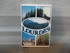 Oude boek speelkaarten - Lourdes Frankrijk