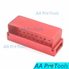 AA Pro: 30 Holes Dental Aluminum Bur Burs Holder Box Autoclave Magenta DN-2088