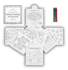 12 x WEDDING ACTIVITY PACK GAMES PUZZLES COLOURING BOOK CHILDRENS KID PARTY BAGS