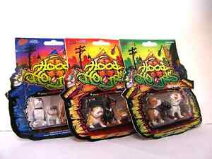 HOOD HOUNDS SERIES 1 2 3 GET ALL 12 Dog Figure Homies W/Collectable Rare Sticker