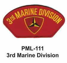 """3RD MARINE DIVISION Embroidered Military Large Patch, 4"""""""