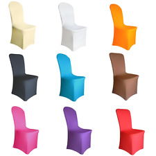 1-100 Chair Covers Spandex Lycra Wedding Banquet Anniversary Party Décor Hotel