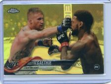 2018 Topps UFC Chrome JUSTIN GAETHJE RC Rookie Silver Prizm Refractor No 71