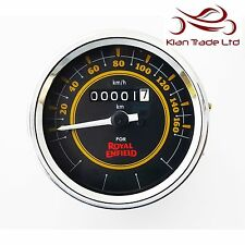 Speedometer Royal Enfield 0-160 KPH Black Dial Face Speedo Motorbike Motorcycle