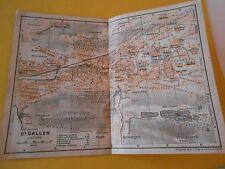 Plan de St Gallen Schweiz 1920