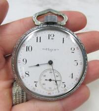 Watch 16s ~ 7J ~ 8-D597 Antique 1900 Elgin Open Face Pocket