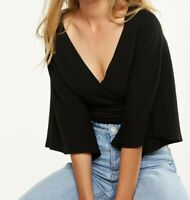 Cotton:On Jude Kimono Sleeve top size L in black