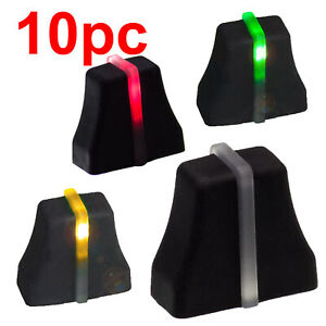NEW 10 FADER knob black 6x2mm soft touch> Fader with LED slide potentiometer cap