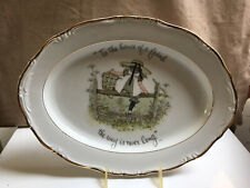 HOLLY HOBBIE GIRL ON POST & RAIL LARGE SERVING TRAY