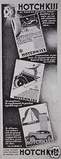 PUBLICITÉ 1930 HOTCHKISS DIRECTION SÛRE SOUPLESSE ÉQUILIBRAGE - ADVERTISING