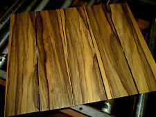 "FOUR (4) PIECES THIN, KILN DRIED, SANDED EXOTIC BLACK LIMBA 24 X 6 X 1/4"" WOOD"