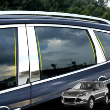 Fit For 2013- Ford Kuga Stainless Chrome Window Pillar Posts Trim Cover Garnish