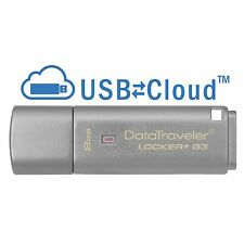 Kingston DataTraveler Locker + G3 8gb USB 3.0 MEMORIA FLASH PEN DRIVE
