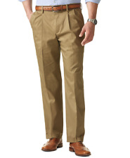 Dockers Mens Never Iron Classic Fit Big & Tall Pleated Pants -Dark Wheat 34Wx38L