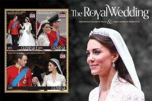 Guyana -2011- Royal Wedding Of Prince William & Kate Middleton -Sheet Of 3 -MNH