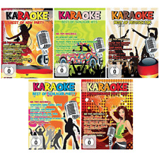 5 Karaoke DVD Super Set - Deutsche Kult Schlager Party - NDW - Deutsch Pop - Neu