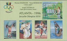 MOLDOVA :1996 Olympic Games Medal Winners min sheet SGMS235 MNH