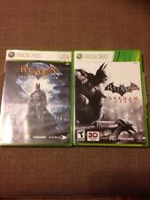 Batman: Arkham Asylum and Arkham City w/ Catwoman DLC (Xbox 360) DC Comics MINT!