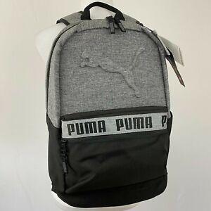 "Puma 18.5"" Black & Gray Padded Large Capacity Backpack w/ Laptop Sleeve New"
