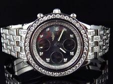 Custom Mens Breitling Chronomat Aeromarine 41 MM Genuine Diamond Watch 9.5 Ct