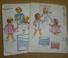 2 X Toddler Infant Girls' Smocked Dress 1950s Smocking Patterns Vintage Plus 1