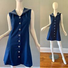 New listing Vintage 60s Sailor Mod Twiggy Mini Scooter Dress M/L