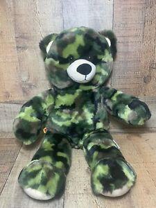 Build A Bear Camo Bear, VERY CLEAN !
