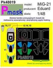 Máscara de pintura de MIG-21 para Eduard Kit #48019 1/48 pmask