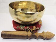 "E8054N Energetic Throat G Chakra Healing 5"" Hand  Hammered Tibetan Singing Bowl"