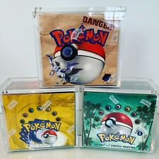 Pokemon Booster Box Protective Display Magnetic Case Fits WOTC  *Pokeprotect*
