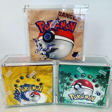 Pokemon Booster Box Magnetic Acrylic Case *READY NOW* Fits WOTC Era & MODERN