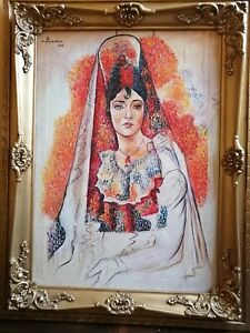 Picasso, Magnificent and Beautiful Painting oil on canvas, Beautiful lady. 🎨