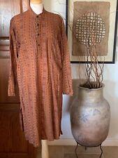 Vintage Ethnic Indian Cotton Fabindia Kurta Kaftan Dress
