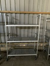 More details for 1.15m long cold room racking, cold room shelving with optional wheels.