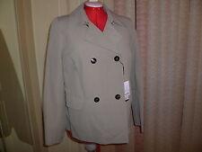 NWT $865 Marina Rinaldi TARINA Taupe Dauble-Breasted lined jacket/coat sz 23/14W