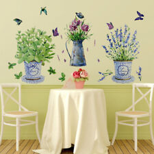Potted Flower Pot Kitchen Window Glass Home Decor Waterproof DIY Wall Sticker
