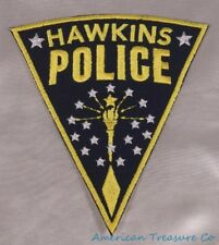 Embroidered Retro 80s Stranger Things Hopper Hawkins Police PD Patch Iron On Sew