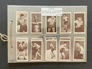 1938 Churchman Boxing Full Set of 50 Joe Louis, Jack Johnson, Dempsey Rare