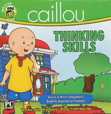 Caillou THINKING SKILLS Childrens Educational for Windows CDrom PC Game - NEW