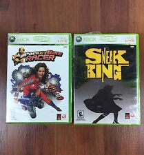 2 New Sneak King Microsoft Xbox 360 Pocketbike Racer Burger King Games Bundle